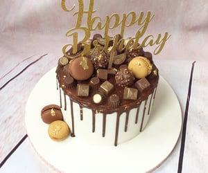 birthday, cake, and chocolate image