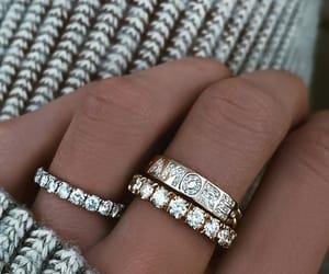 bague, gold, and bijoux image