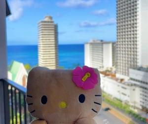 Aloha, beach, and sanrio image