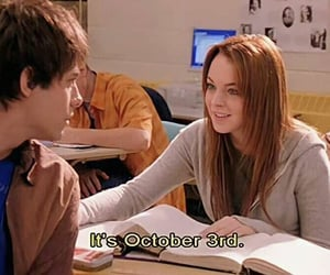 lindsay lohan, mean girls, and october 3rd image