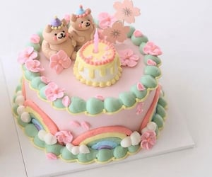 aesthetic, baking, and birthday cake image