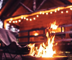 burn, fire, and camping fire image