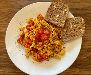 breakfast, cherry tomatoes, and food image
