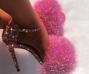 glitter, pink, and high heels image