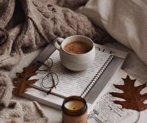 autumn, fall, and hot cocoa image