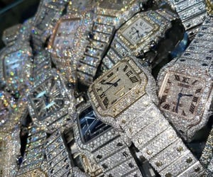bling, diamonds, and watches image