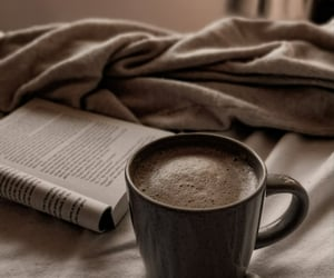 book, journal, and breakfast image