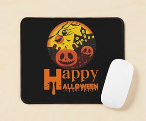 Halloween, mouse pad, and spooky image