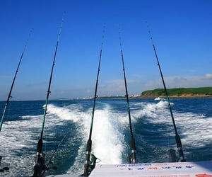 deep sea fishing, fishing accessories, and offshore fishing image