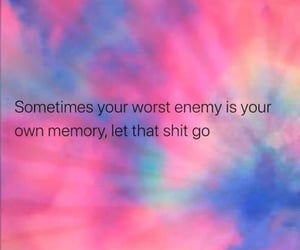 let it go, love yourself, and mood image