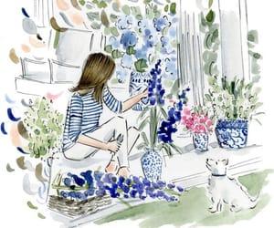 artist, pastel, and fashionillustration image