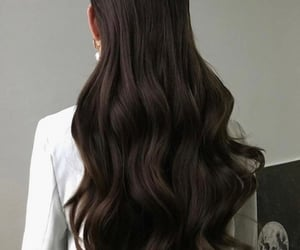 brunette, classy, and longhair image