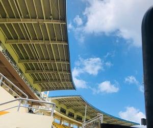 clouds, stadium, and inspirational image
