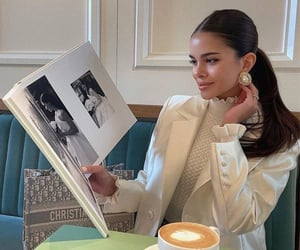 book, Christian Dior, and coffee image