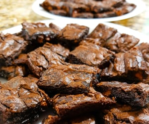brownies, chocolate, and dessert image