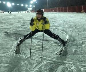 christmas, cold, and Skiing image