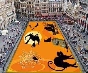 creepy, october, and pumpkin image
