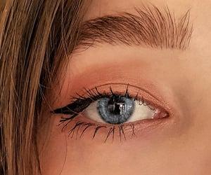 beauty, eyebrow, and eyeliner image