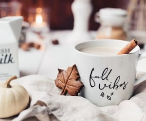 autumn, autumnal, and coffee image
