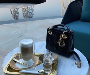 bag, breakfast, and drink image