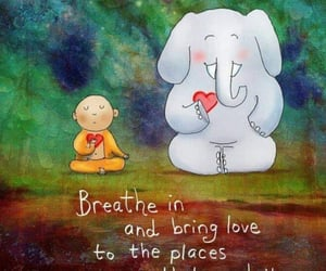 breathe, calm, and words image