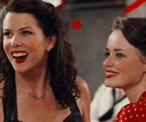 gilmore girls, red, and lorelai image