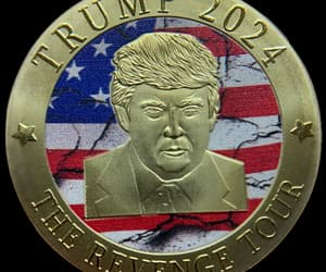 gold coins, president trump, and trump image