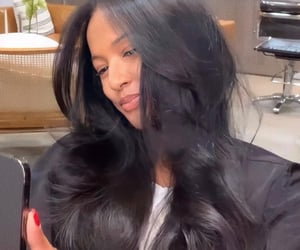 beauty, karrueche, and hair goals image