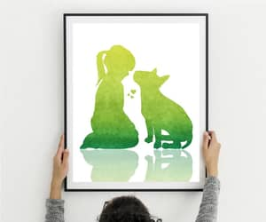 etsy, dog art print, and bull terrier print image