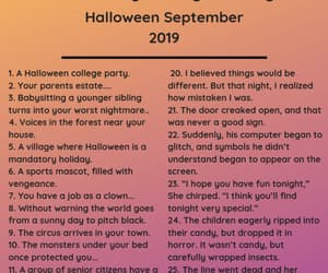 challenge, october, and writing prompts image