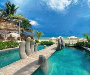 azul, scenery, and beach image