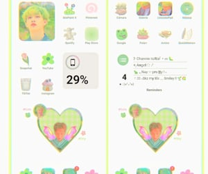 Chan, green aesthetic, and ios 14 image