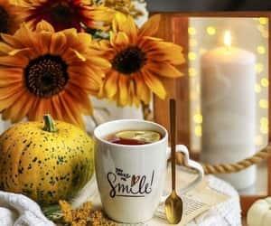 afternoon tea, pumpkins, and tea image