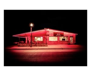 late night, red light, and night image