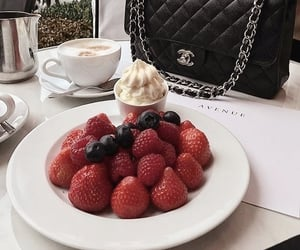 food, strawberry, and chanel image