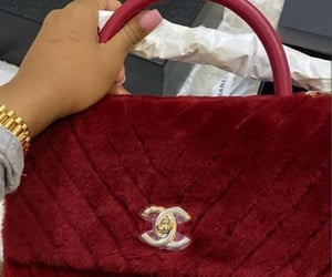 bag, chanel, and red purse image