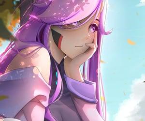 girl, purple, and anime_girl image