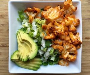 food, vegan, and avocado image