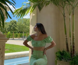 fashion, green, and look image