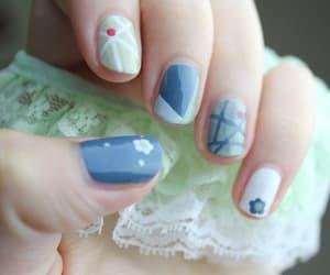 fake nails, nail art, and acrylic nails image