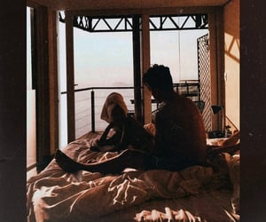 aesthetic, couple, and brown image