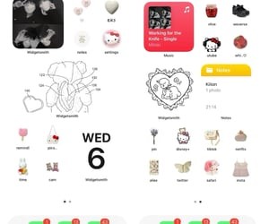 aesthetic, ios 14, and hello kitty image