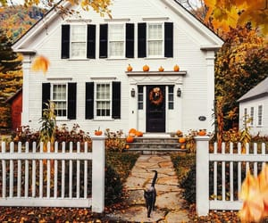 autumn, fall, and house image
