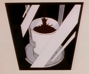 anime, background, and coffee image