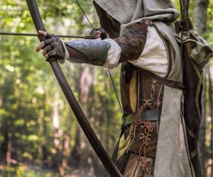 archery, fantasy, and forest image