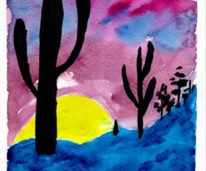 art for sale, original art, and cactus artwork image