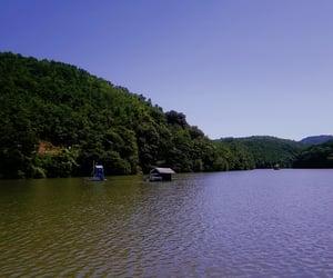 aesthetic, grunge, and lake image