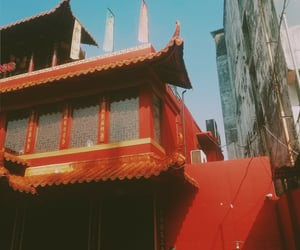 building, china, and chinese restaurant image