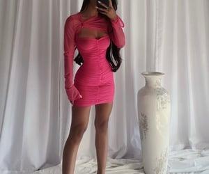 beautiful, hot pink, and pose image