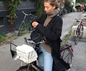 autumn, bike, and casual image